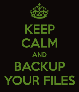Keep Calm and Backup Your Files Image